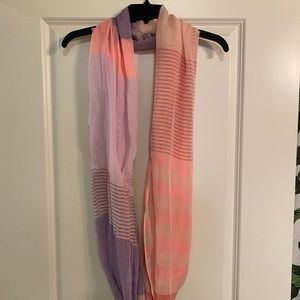 Pink and Purple Patterned Scarf